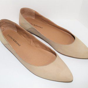 Lucky Brand suede nude flats 9M